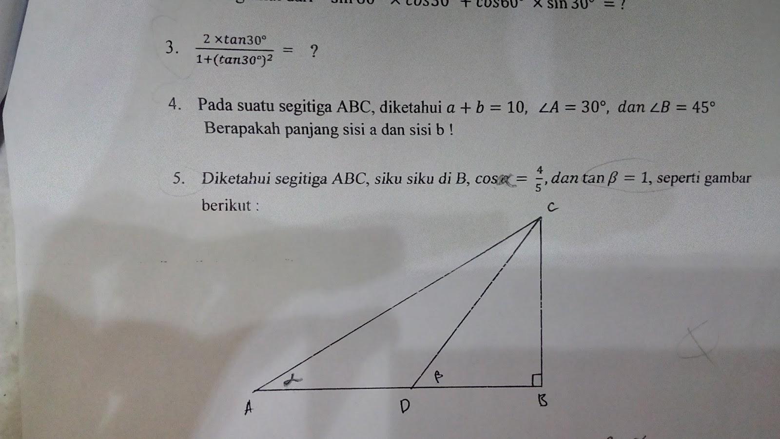 Soal Trigonometri Uts Kelas X Semester 2 Pg Berbagi Ilmu