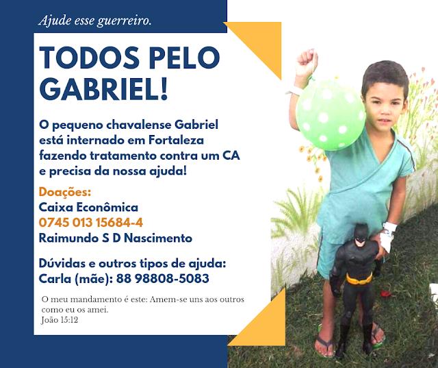 Secretaria de Esporte de Chaval promoverá evento para ajudar o garoto Gabriel
