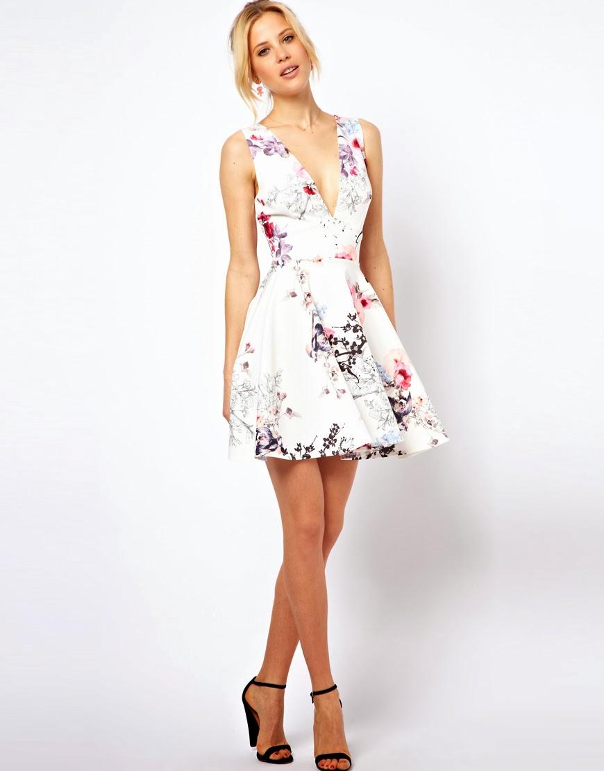 Lush Doodles: ASOS Floral Coloured Skater Dress