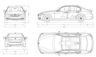 dimensioni bmw serie 3 berlina modello 2016 2016 2015 schema tecnico
