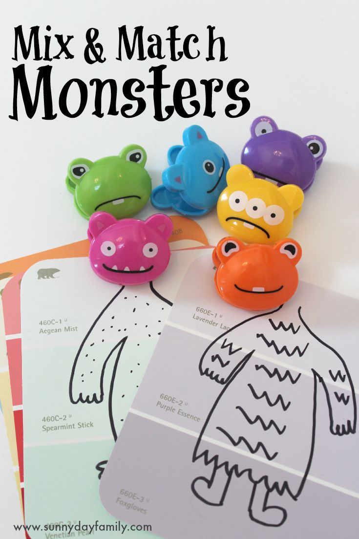 Practice colors and have fun with these adorable mix & match monsters! A cute Halloween activity for preschoolers.