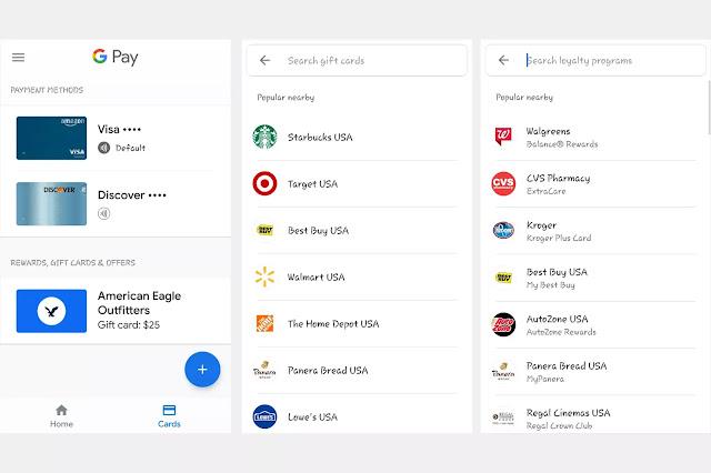 Memasukkan Informasi Kartu Kredit Google Pay