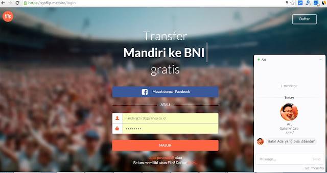 Cara Transfer Gratis Antar Bank BRI, Mandiri, BNI, BCA Via Flip