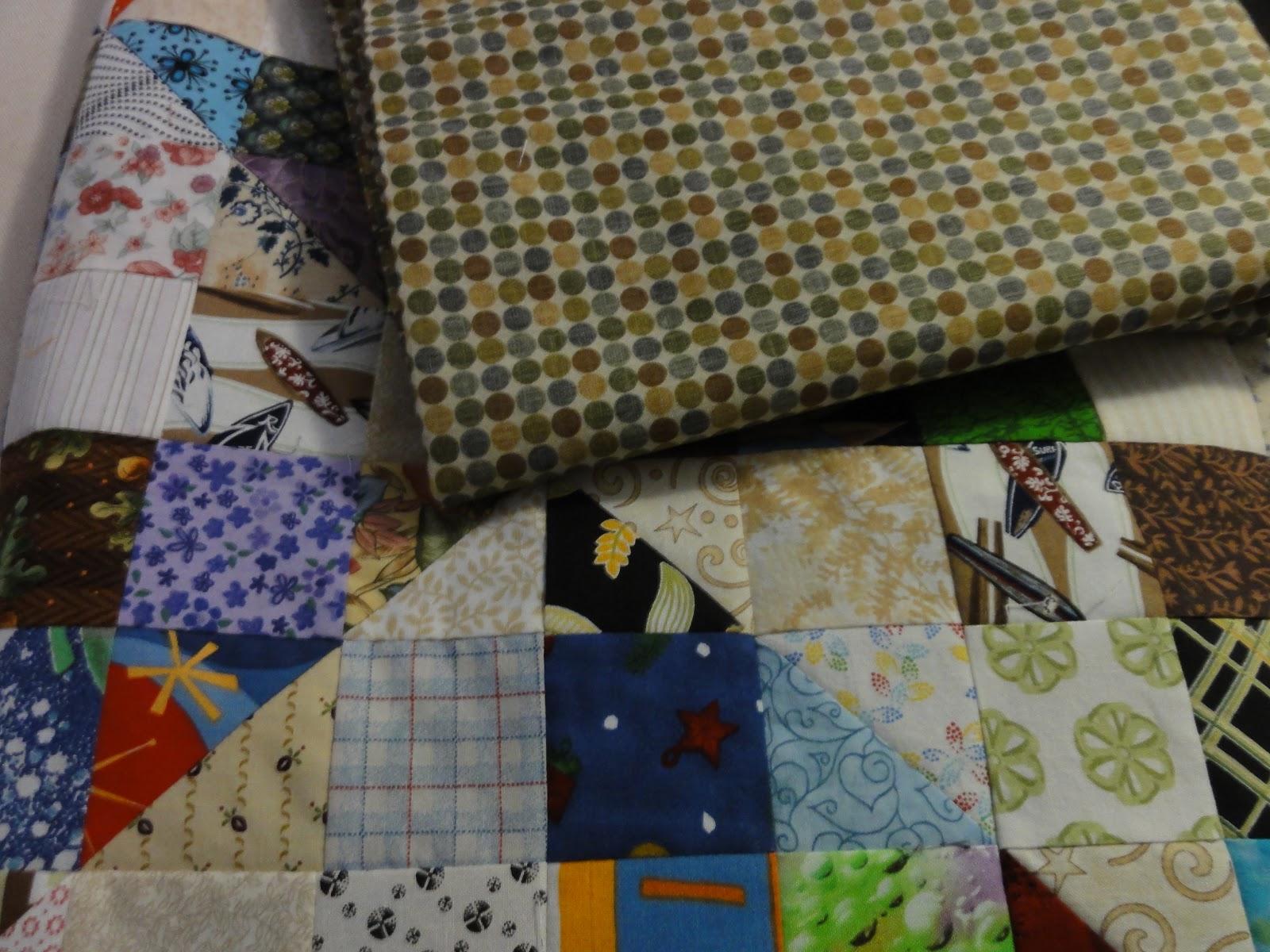 Little Jewel Quilts: Split Nine Patch Backing