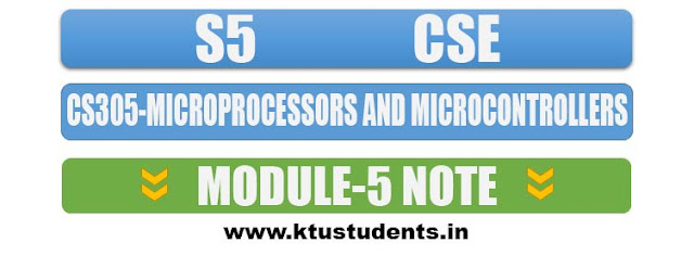note for cs305 microprocessors and microcontrollers module 5