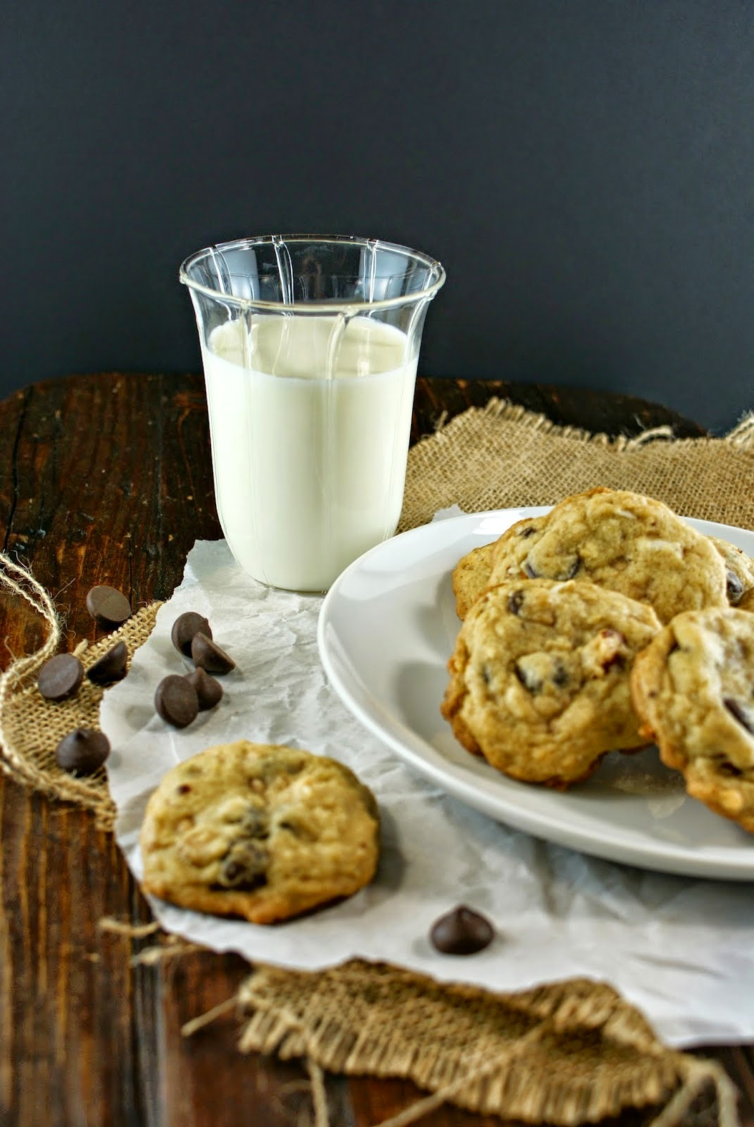 Featured Recipe | Almond Toffee Coconut Chocolate Chip Cookies from Authentic Suburban Gourmet #recipe #SecretRecipeClub