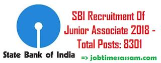 SBI Recruitment Of Junior Associate 2018