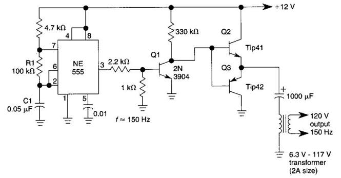 Simple DcAc Inverter Circuit Diagram | Electronic Circuit
