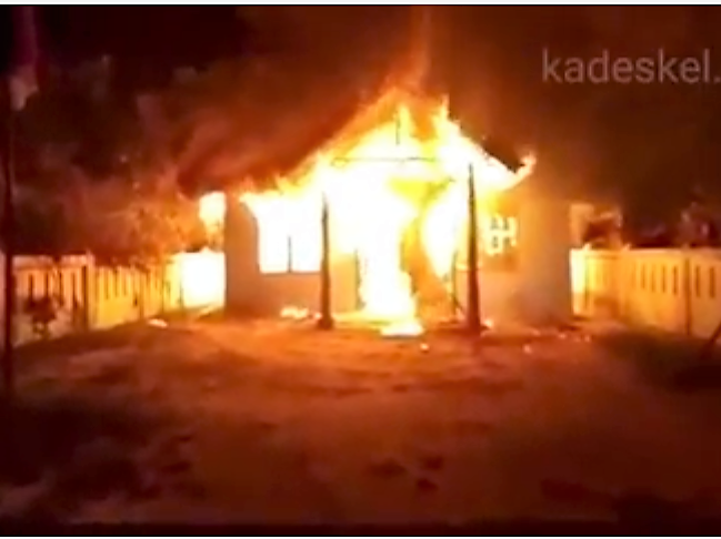 Kantor Pangulu (Kepala Desa) Marihat Pondok Terbakar, Ratusan Karung Beras Ludes