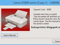 Cara Ampuh Atasi Printer Canon ip2770 dan ip2870 Error 6000