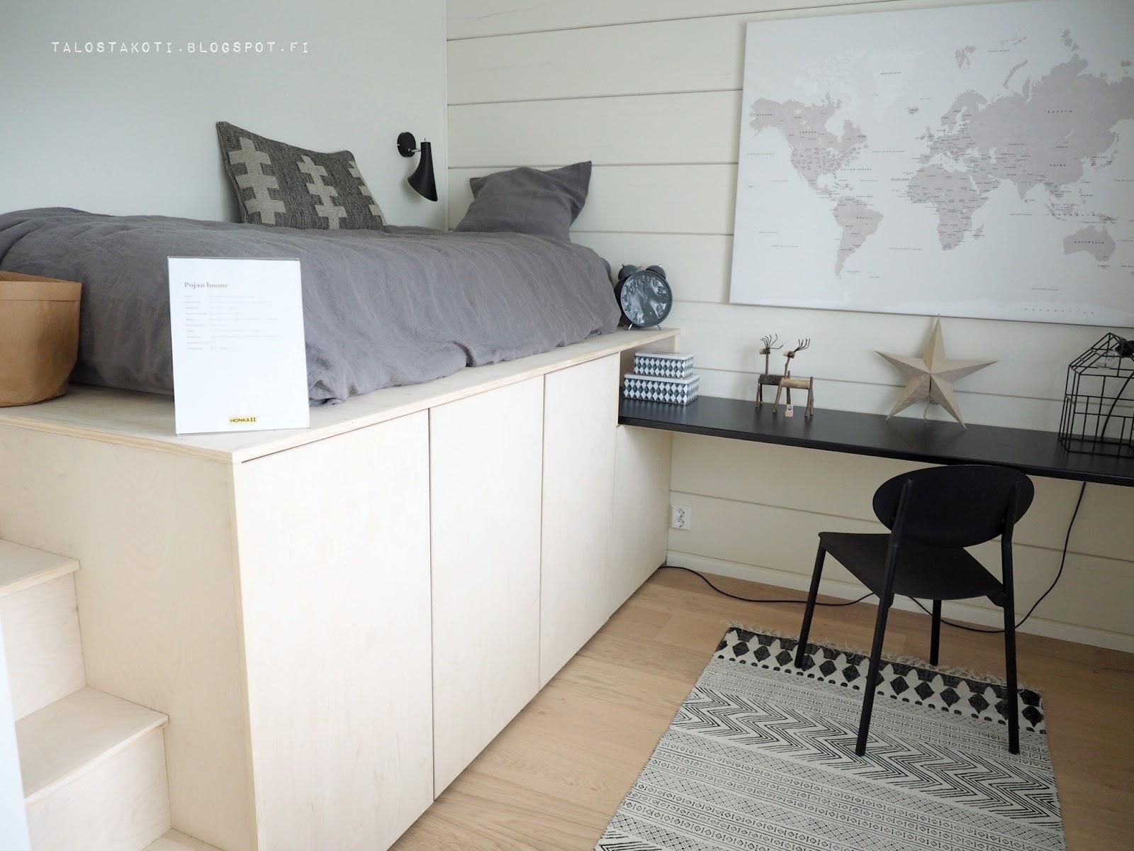 Seinäjoen asuntomessut Honka Markki makuuhuone vanerisänky