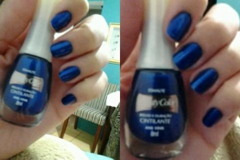 esmalte metálico; esmalte azul metálico; esmalte beauty color