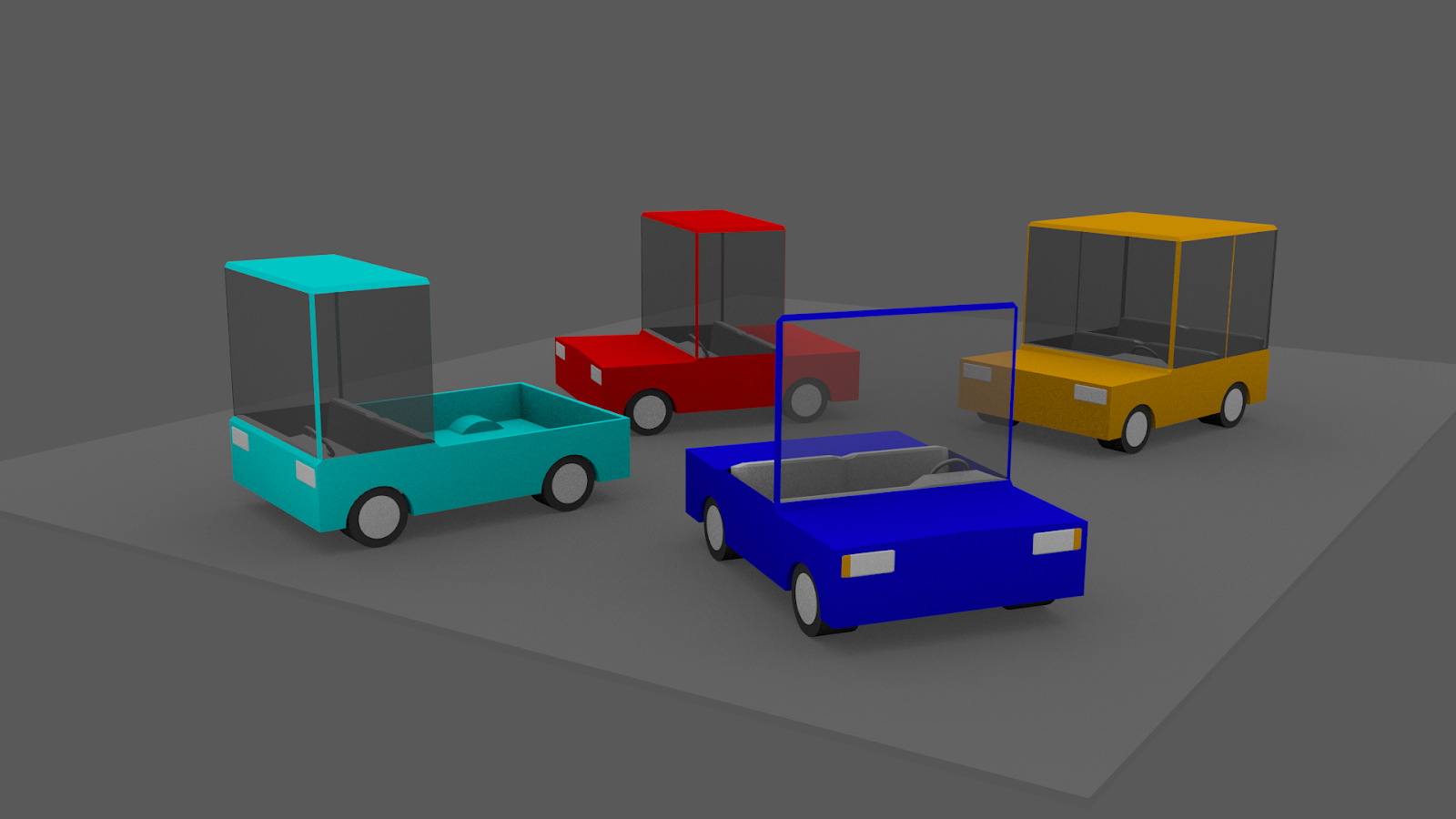 Free 3D Cube Cars .blend