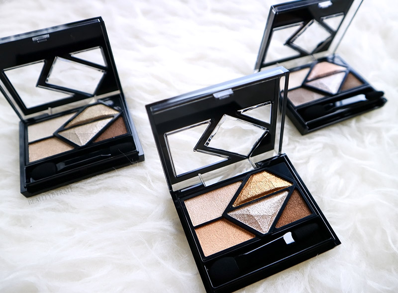 Kate Tokyo Metal Glamour Eyes Review and Swatches PK-1 BR-2 BR-3
