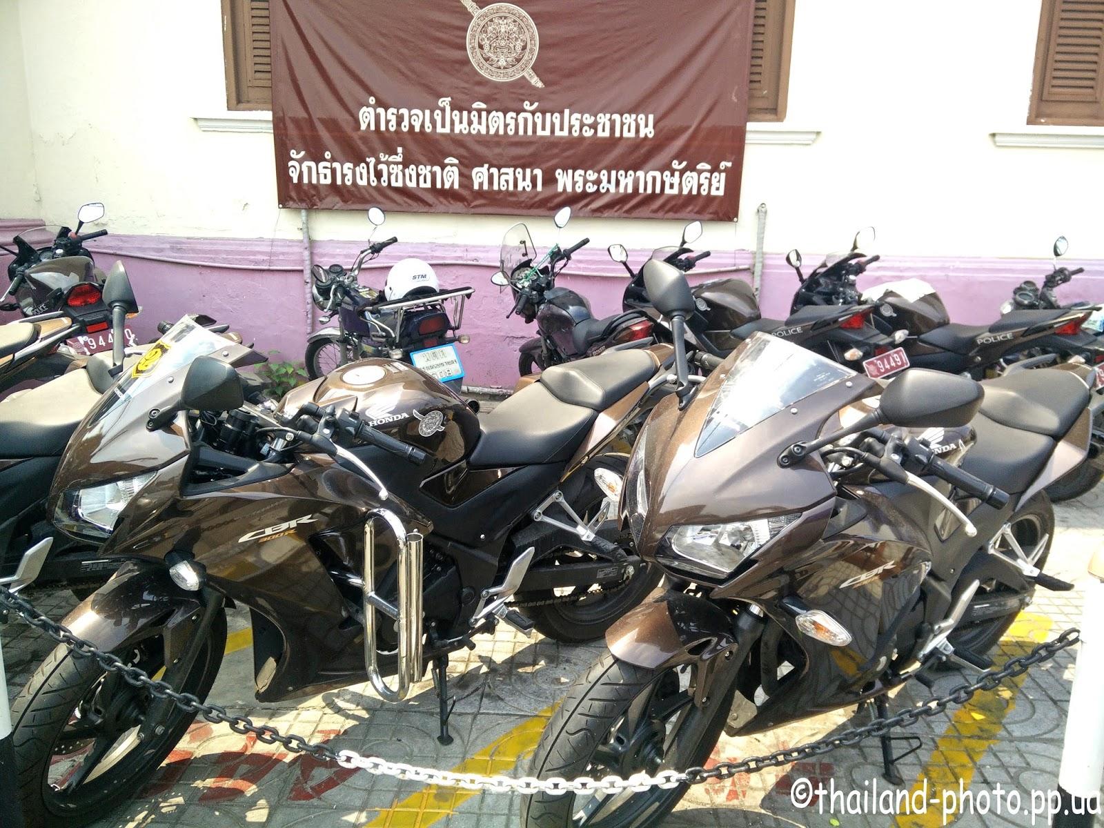 Полицейские байки Бангкока