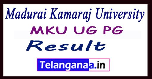 Madurai Kamaraj University Result MKU UG PG Results 2018