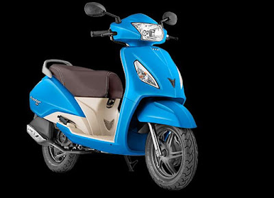 TVS Jupiter peurl blue scooter 110cc
