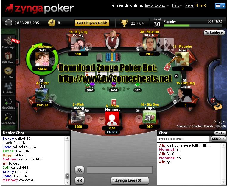 Cheat Poker Zynga