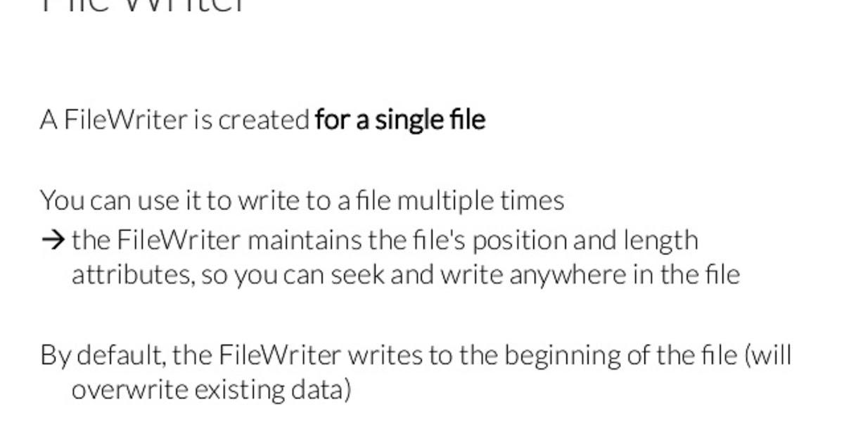 filewriter write overwrite a file