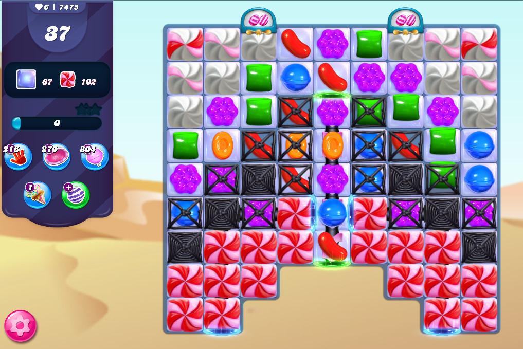 Candy Crush Saga level 7475