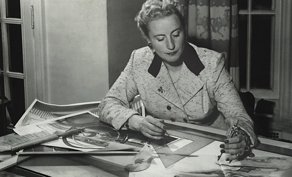 Just A Car Guy: Helene Rother was one of the first women to work as an  automotive designer, and achieved an impressive resume of companies she'd  go on to work with