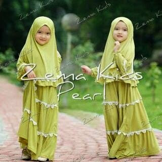 Model Baju Gamis Muslim Lucu Keluaran Terbaru Untuk Anak Perempuan