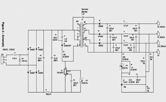 3.3V, 5V, 9V SMPS Circuit