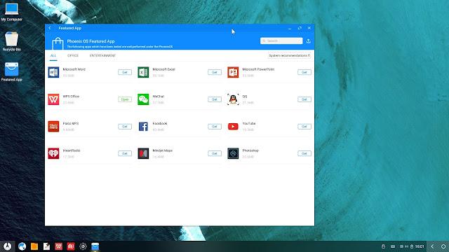 Aplicaciones recomendadas Phoenix OS 2