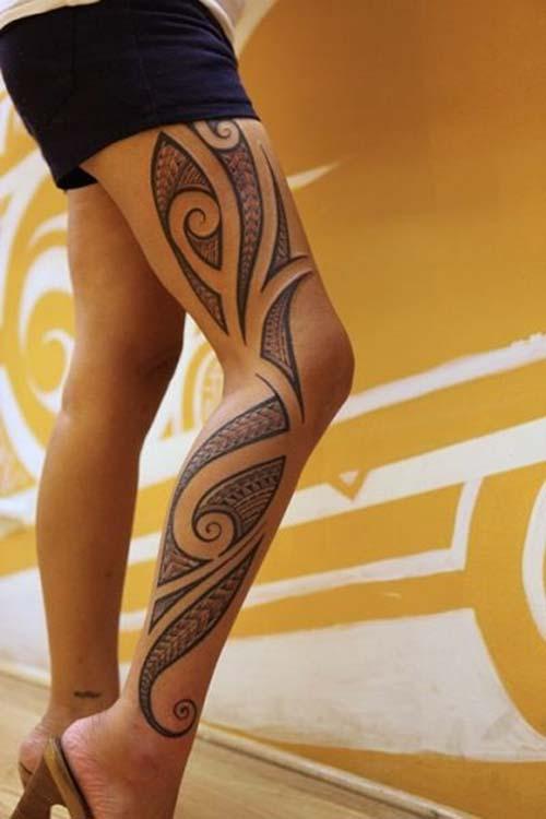 kadın maori tribal dövmeleri woman maori tribal tattoos 7