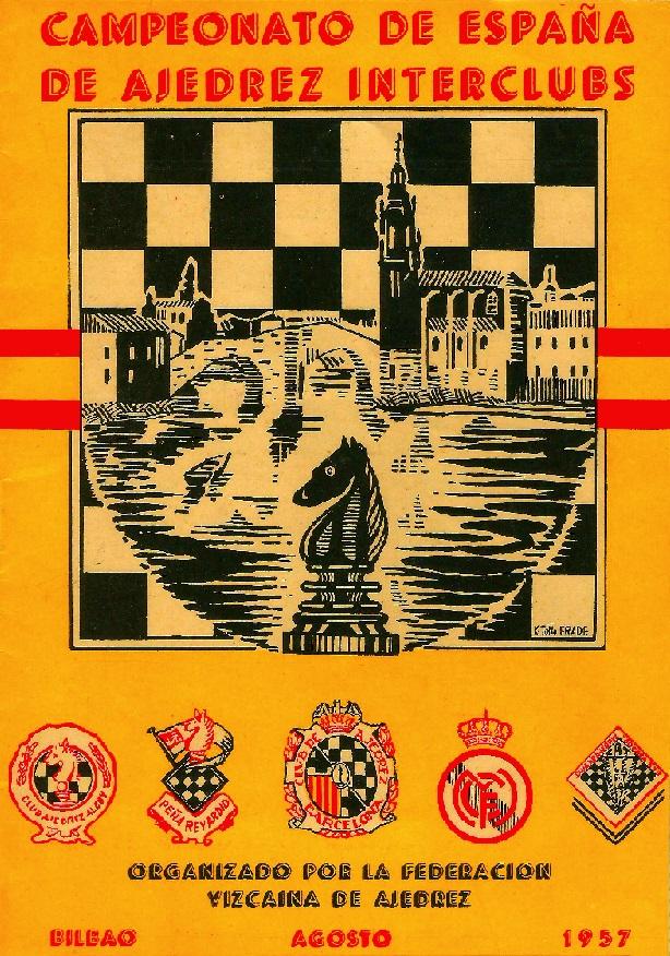 Cartel del Campeonato de España de Ajedrez Interclubs 1957