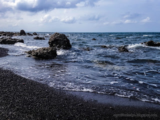 Natural Rocky Beach Seascape And Cloudy Sky At Umeanyar Beach, North Bali, Indonesia
