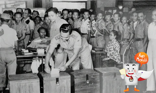 Ilustrasi Pemilihan Umum Tahun 1955