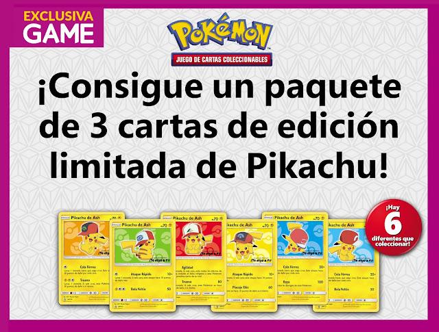Consigue las cartas exclusivas de Pikachu de ¡Te elijo a ti! en GAME