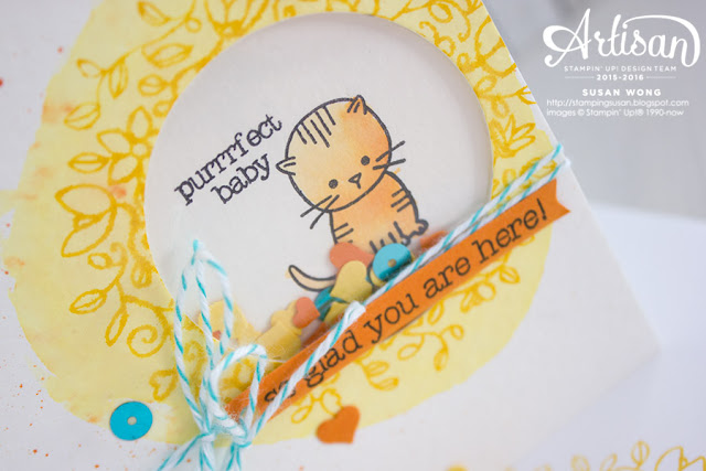 Circle of Spring + Made with Love Kitty Card ~ Susan Wong