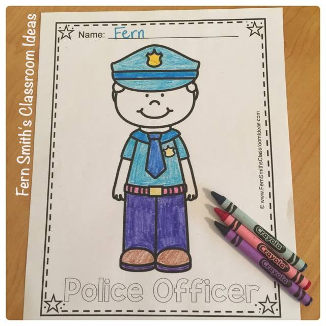 Coloring Pages for Community Helpers Color For Fun for your classroom FUN! #FernSmithsClassroomIdeas