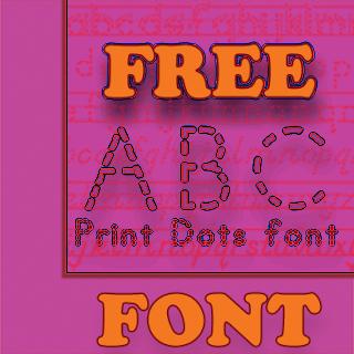 TPT - Fonts 4 Teachers: ABC Print Dotted Font