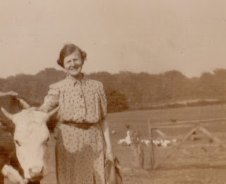 Raising poultry on a farm c 1930