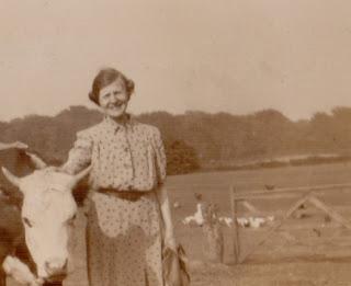 Raising poultry on a farm c 1930