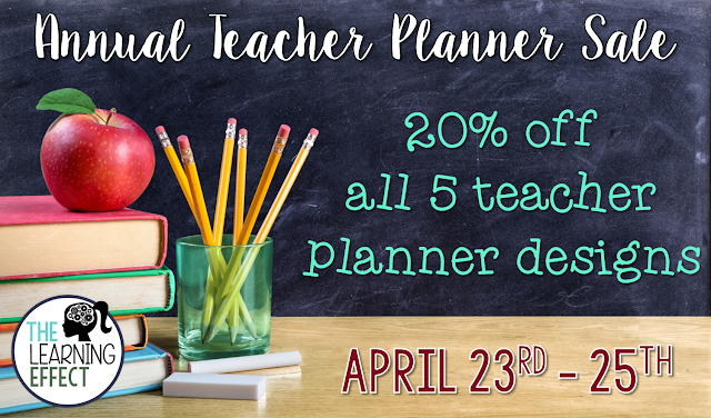 annual teacher planner sale the learning effect