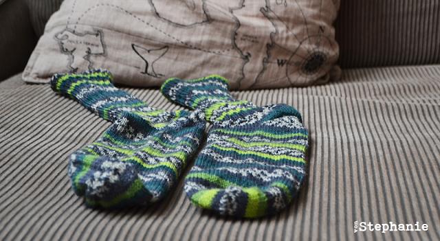 Socken   grün-gestreift   vonStephanie.at