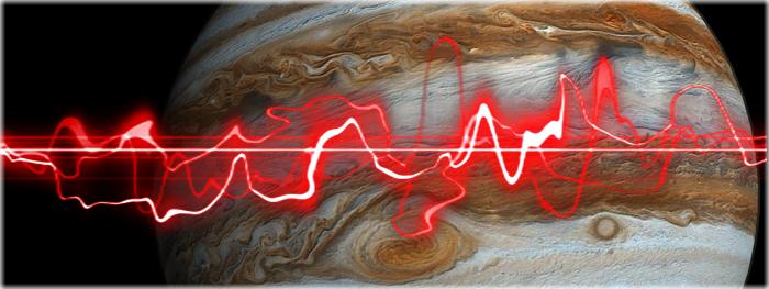 estranho som de Júpiter