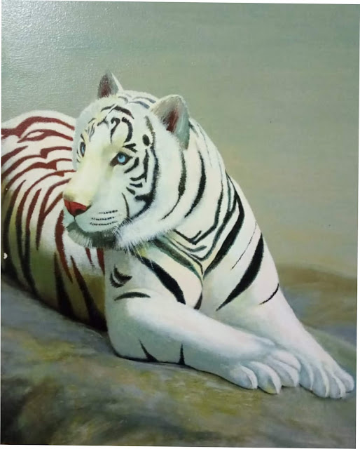 pintura+em+acrílico+tigre+Branco
