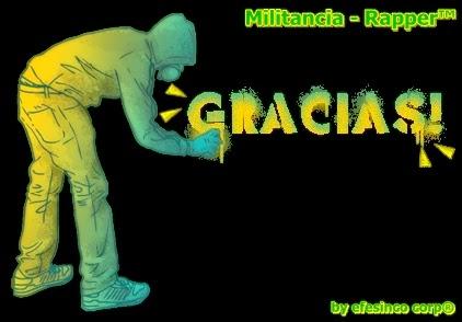 militancia rapper, gracias, dando gracias, rap sudamericano,