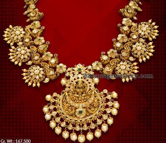 Pachi Floral Necklace with Lakshmi