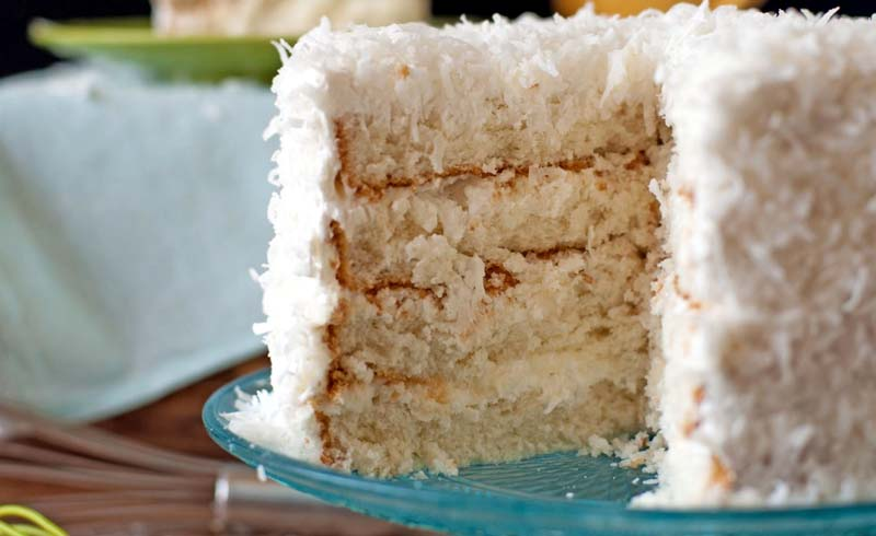 Coconut Layer Cake with Marshmallow