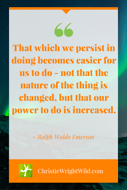"""That which we persist in doing becomes easier for us to do - not that the nature of the thing is changed, but that our power to do is increased."" ~Ralph Waldo Emerson 