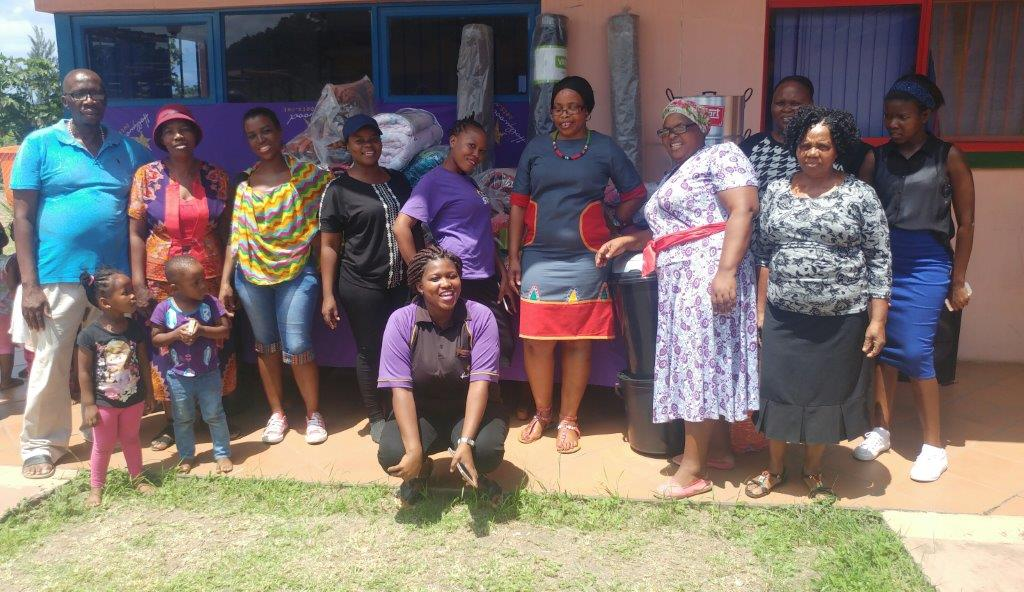 Staff at Mandlazini Mqedi Community Care Centre thanked the Hollywoodbets Richards Bay team for their support