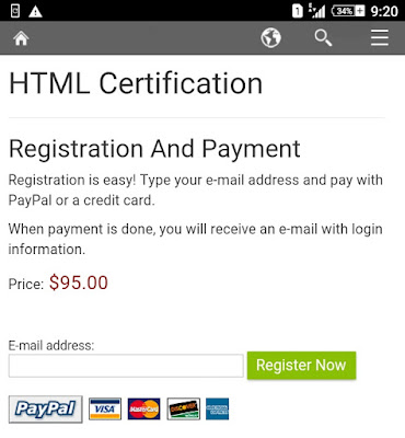 W3School Html Certification
