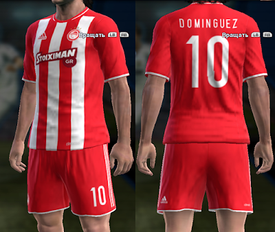 PES 2013 Olympiacos 16/17 home kit v2 by vladroman