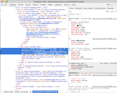 Screenshot of developer tools window showing the field highlighted.